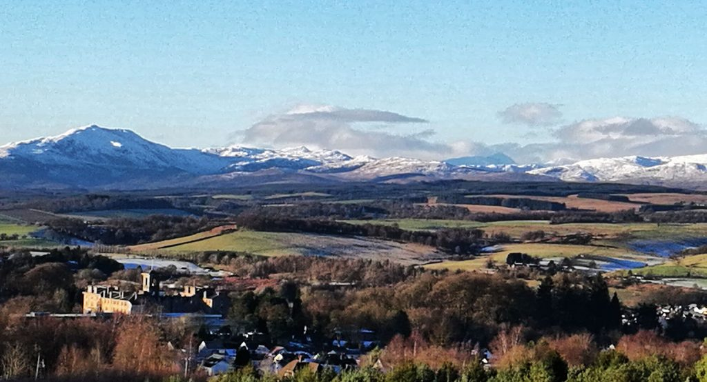 Trossachs on a clear day