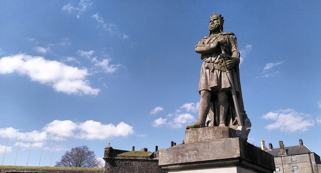 Robert the Bruce statue at Stirling Castle, Scotland